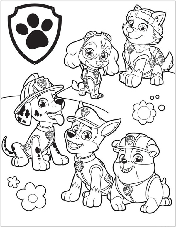 Dibujos Para Pintar Patrulla Canina Gratis Dibujos Para