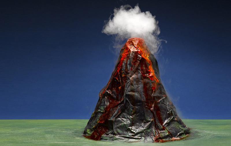 hacer un volcán casero para niños