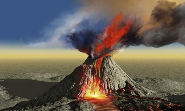 como hacer un volcan escolar