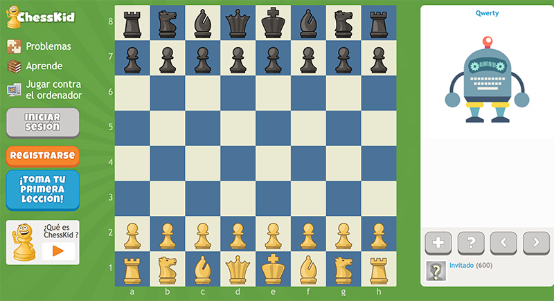 juego de ajedrez para niños de preescolar