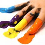 pintura para niños casera
