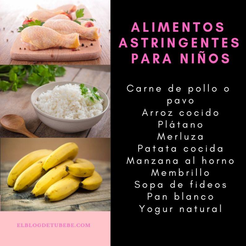 alimentos para dieta astringente