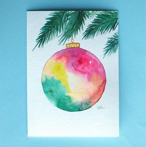 Postales de navidad originales y f ciles para ni os - Como hacer tarjetas de navidad faciles ...