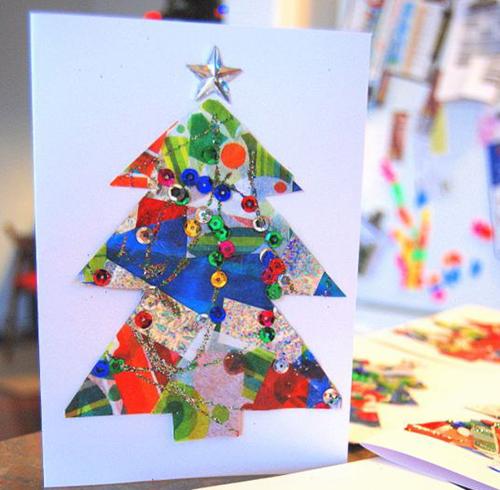 tarjeta de navidad para niños manualidades
