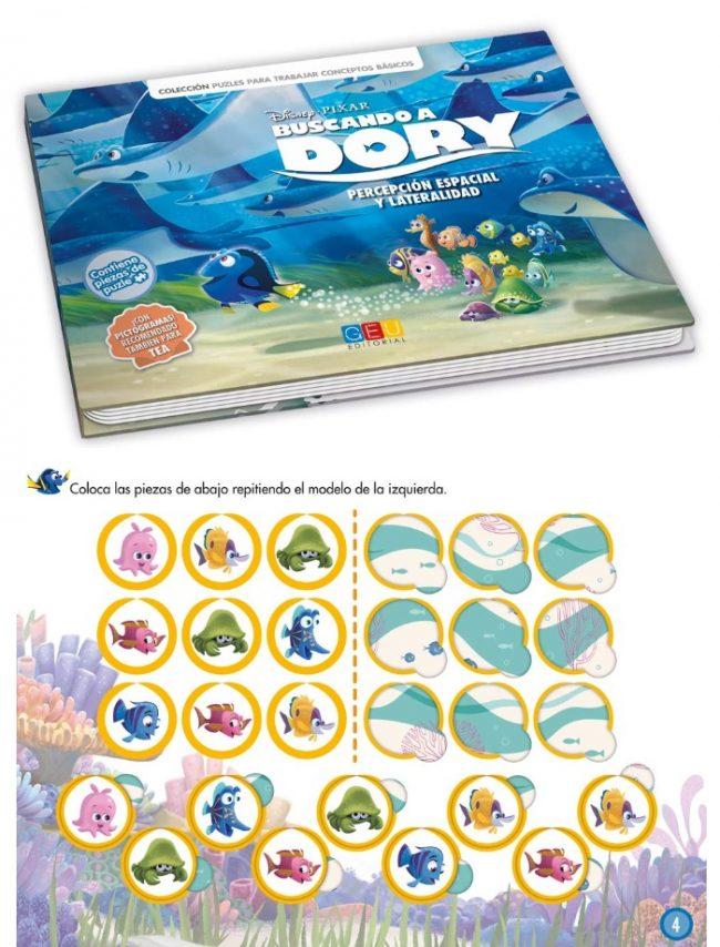Buscando a Dory - Libro-juego para trabajar la Percepción Espacial y Lateralidad