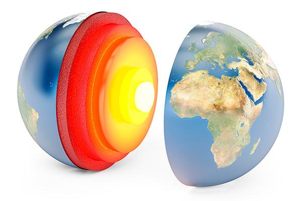 estructura interna de la tierra para colorear