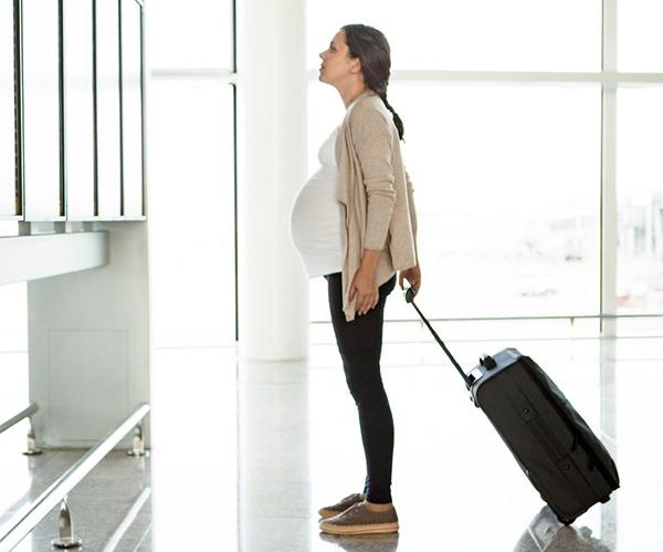 viajes largos embarazada