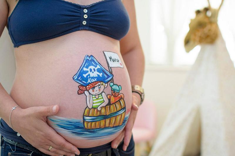 pinturas para panzas de embarazadas