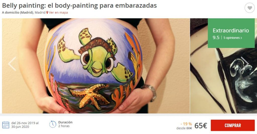 belly painting a domicilio madrid atrapalo