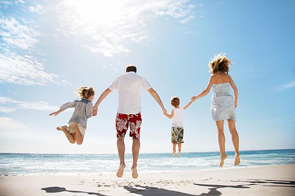 felices vacaciones con niños