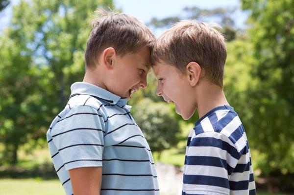 niños celosos con sus hermanos