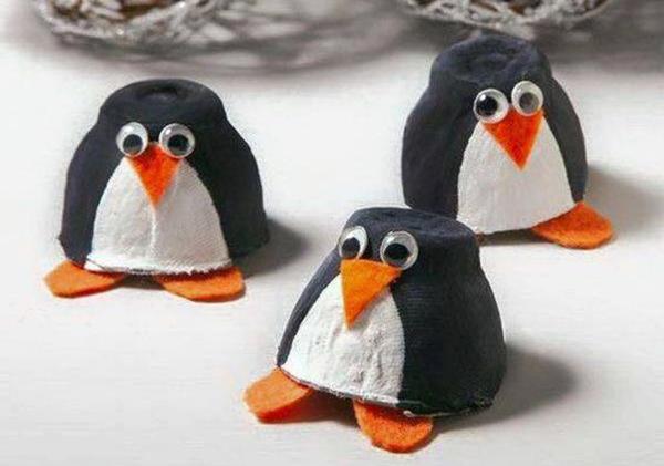 como hacer bandejas de cartulina o pinguinos