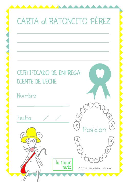 Cartas Del Ratoncito Pérez Para Imprimir Gratis