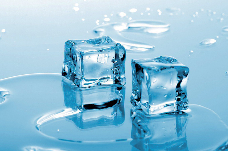 hielo falso