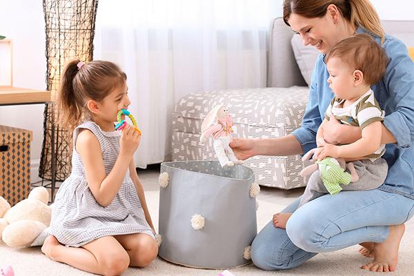 enseñar a los niños a recoger
