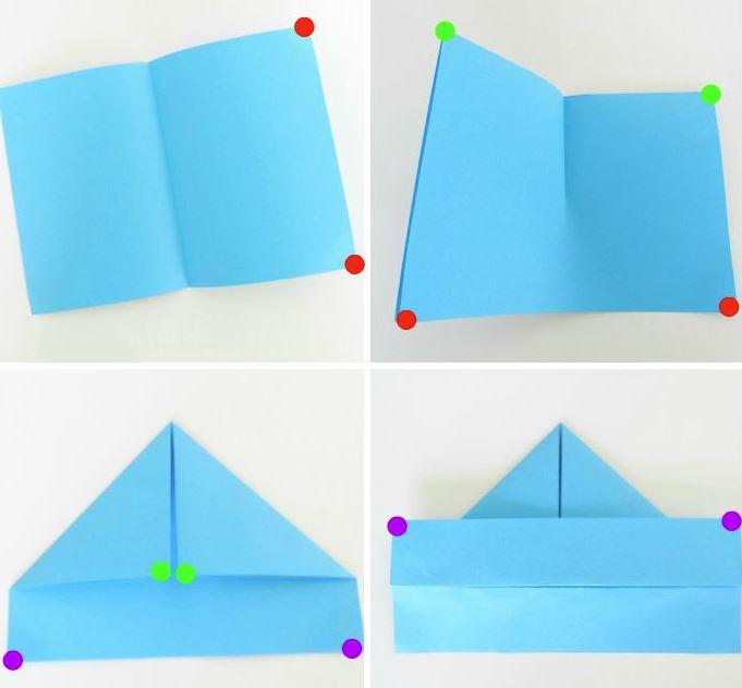 tutorial barquito de papel origami