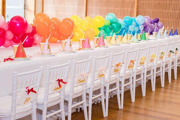 decoracion cumpleaños arcoiris