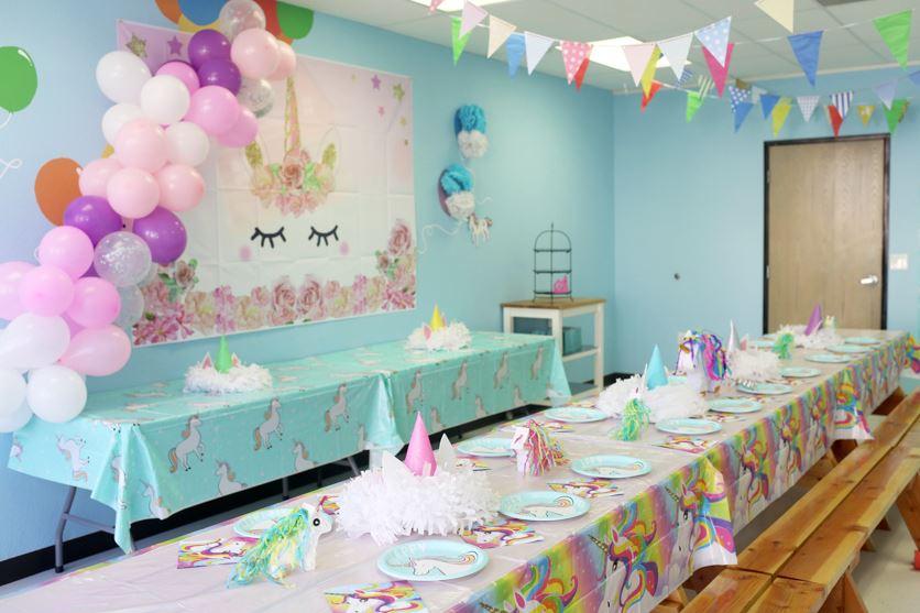 decoracion de cumpleaños de unicornio sencillo