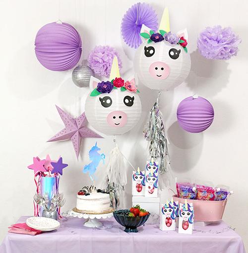 decoracion salon unicornio