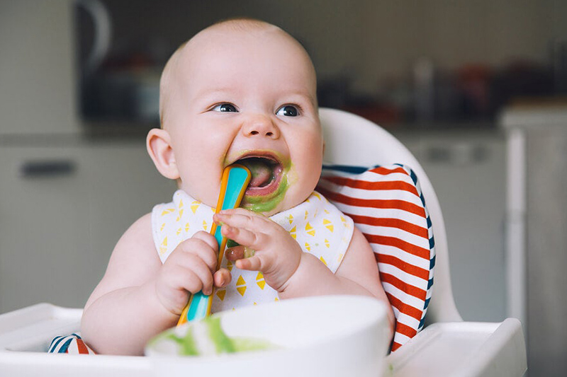 bebé no come verduras