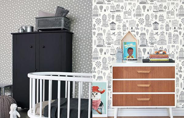 papel para paredes infantiles