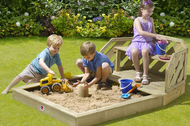 cajón arena niños