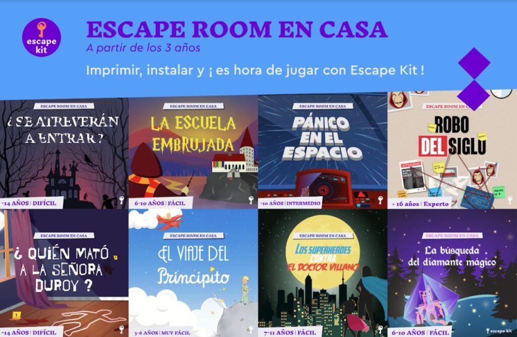 escape room en casa - escape kit