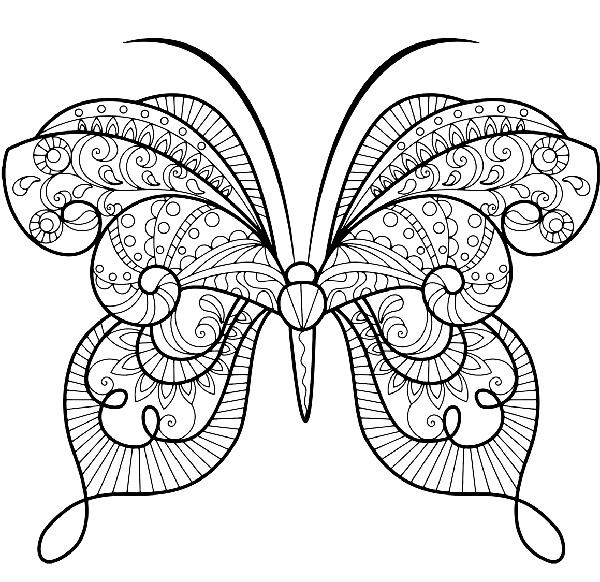 plantilla mariposas para imprimir