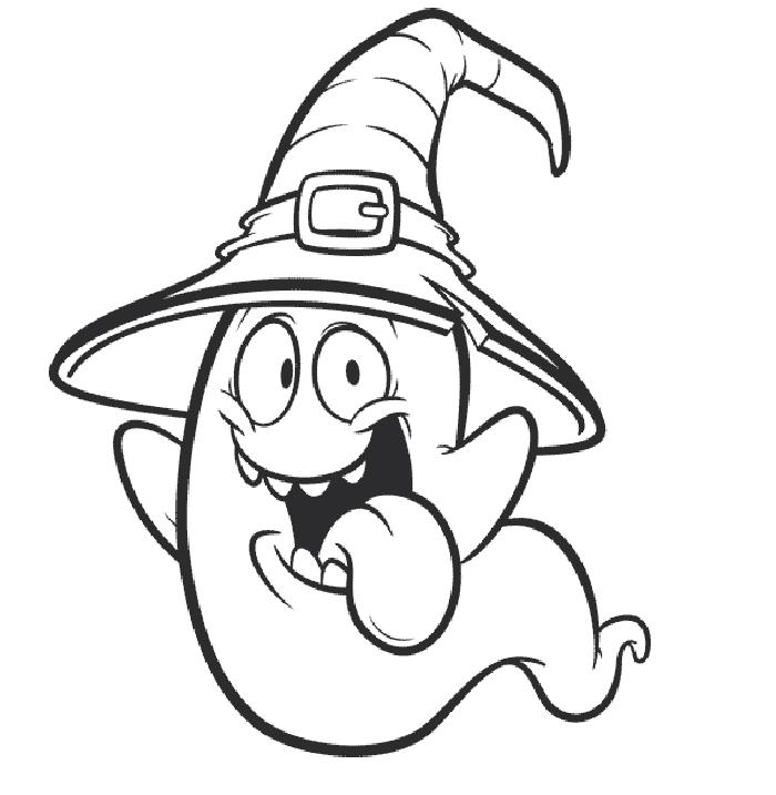 dibujo fantasma facil