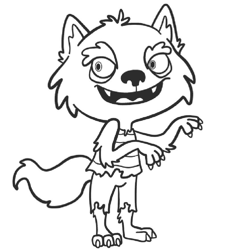 dibujo zombie infantil