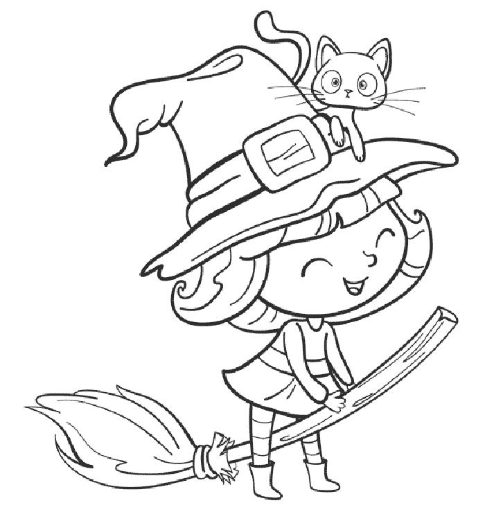 dibujos brujas para colorear
