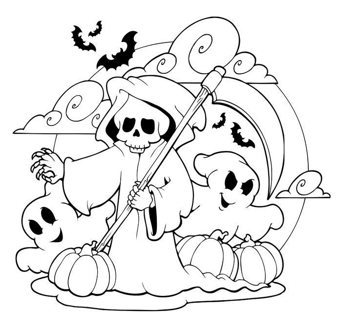dibujos de halloween murcielagos
