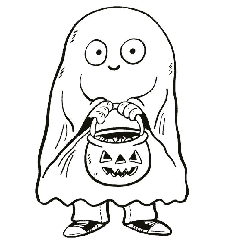 dibujos fantasmas halloween