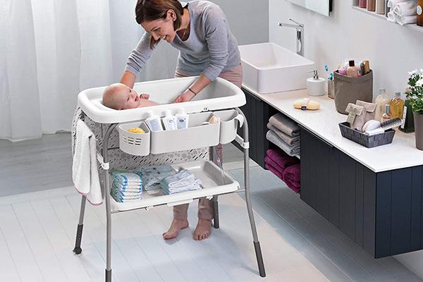 bañera cambiador plegable bebe