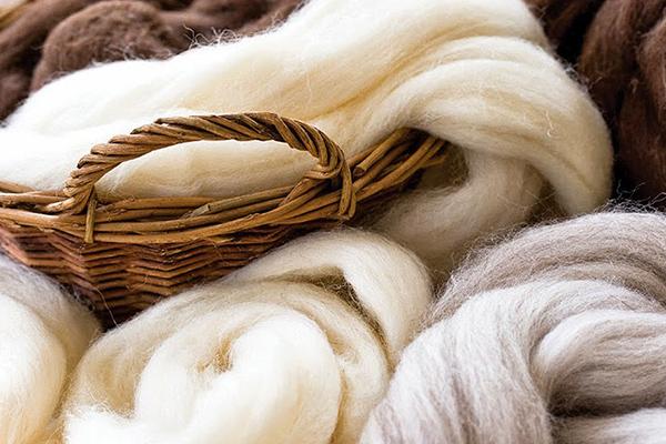 fibras de lana natural