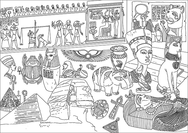 jeroglificos egipcios para niños