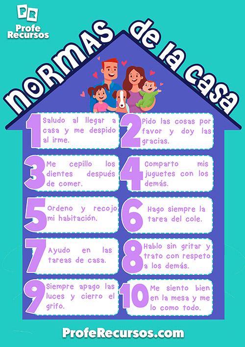 normas de convivencia para preescolar